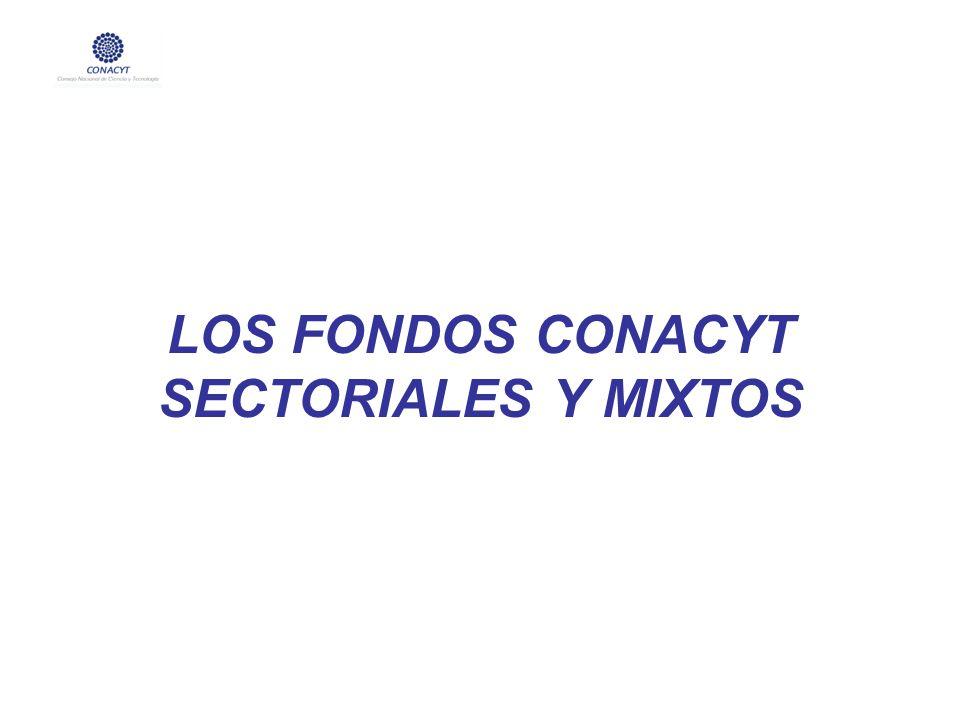 LOS FONDOS CONACYT SECTORIALES Y MIXTOS