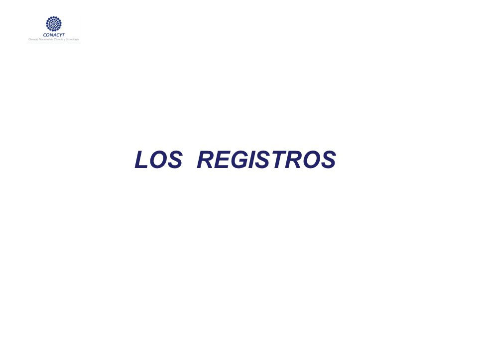 LOS REGISTROS