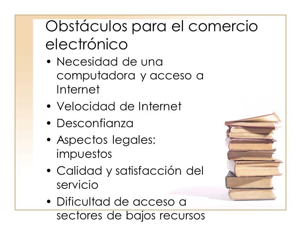 Obstáculos para el comercio electrónico