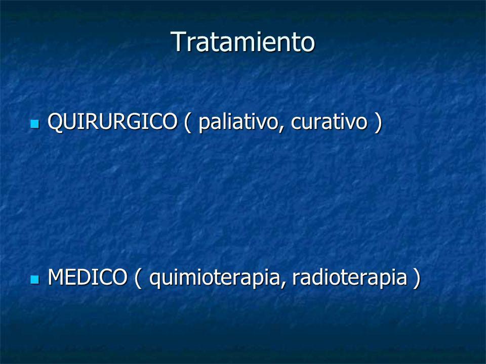Tratamiento QUIRURGICO ( paliativo, curativo )