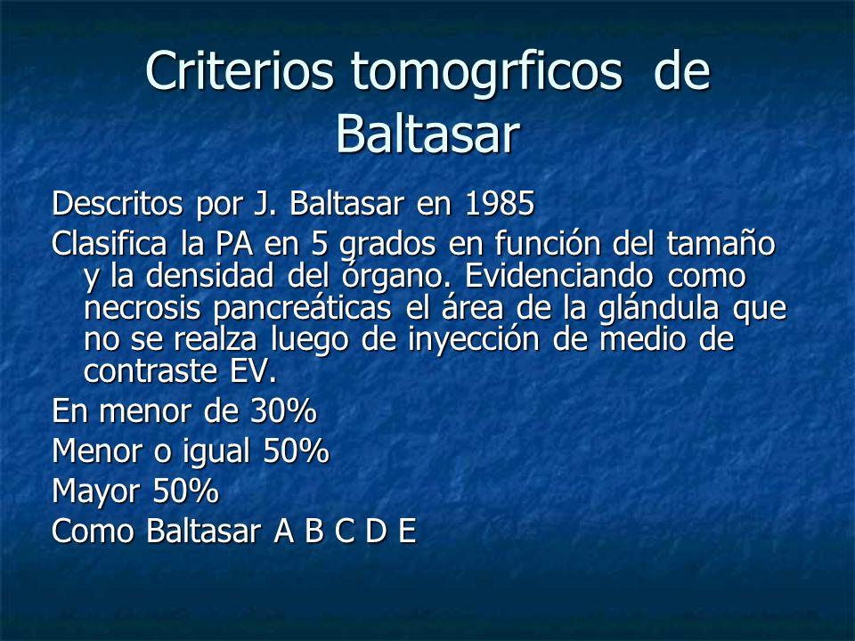 Criterios tomogrficos de Baltasar