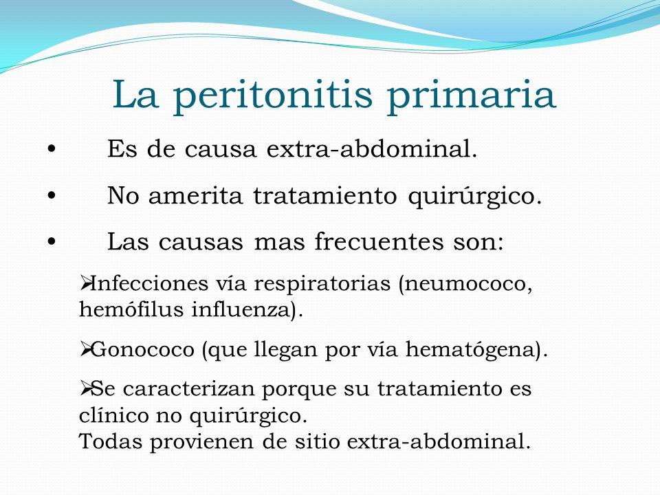 La peritonitis primaria