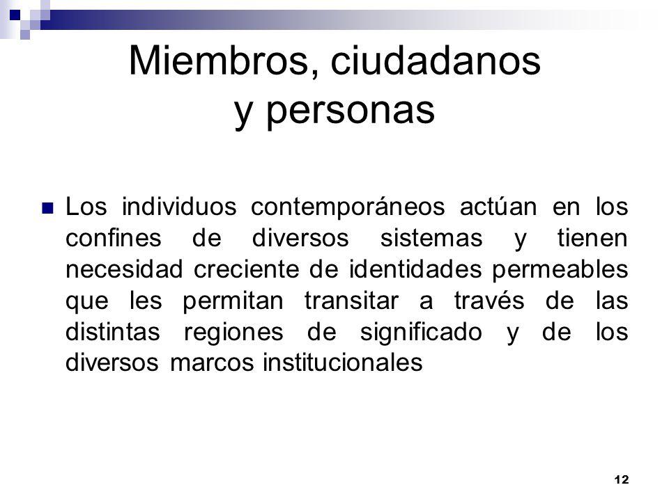 Miembros, ciudadanos y personas