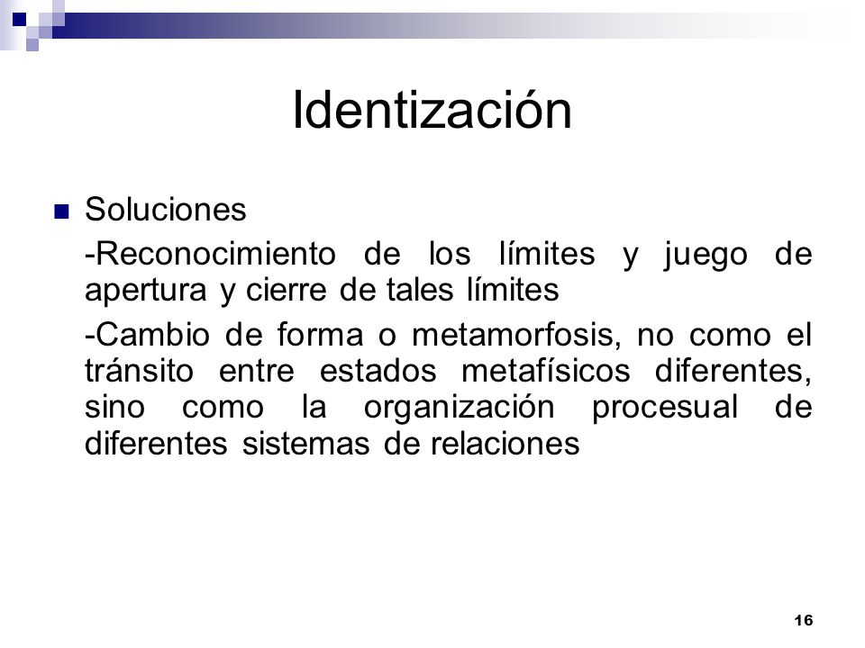 Identización Soluciones