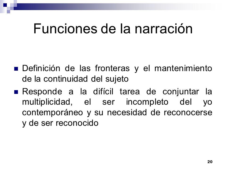 Funciones de la narración