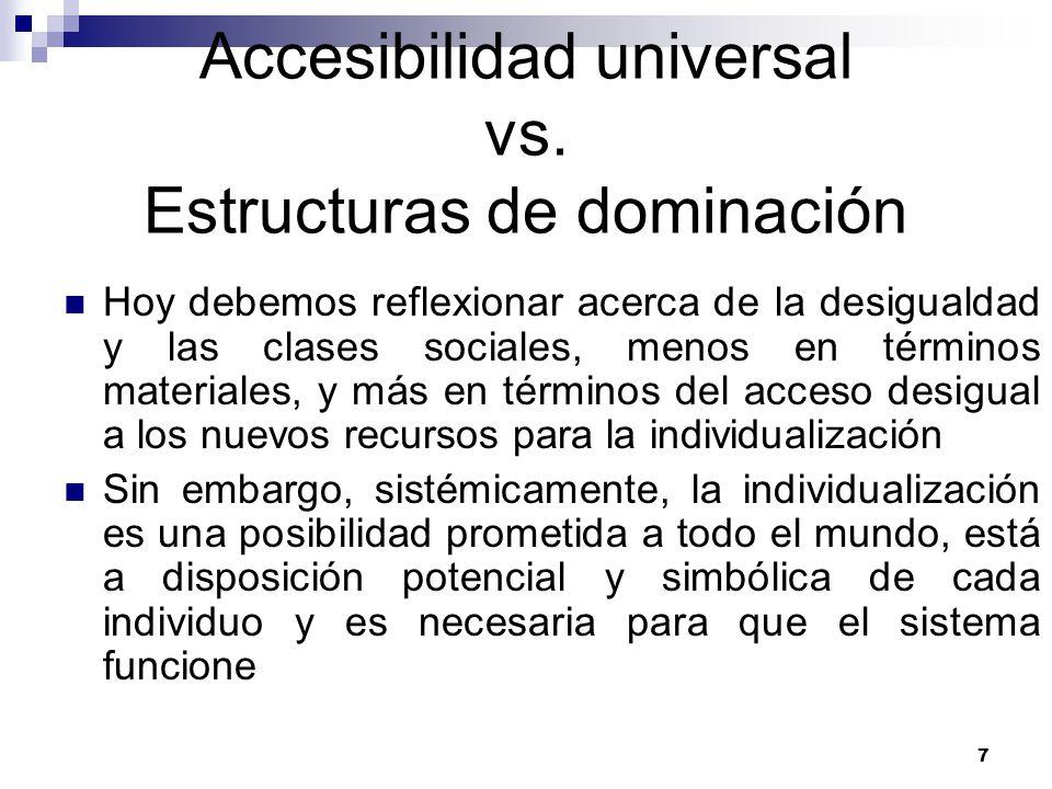 Accesibilidad universal vs. Estructuras de dominación