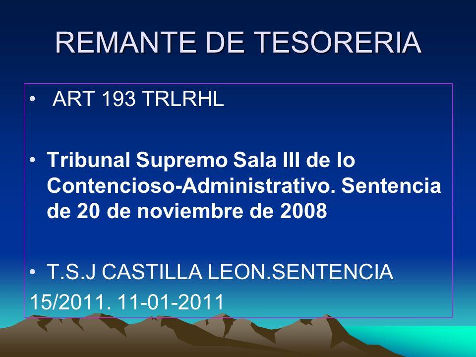 REMANTE DE TESORERIA ART 193 TRLRHL