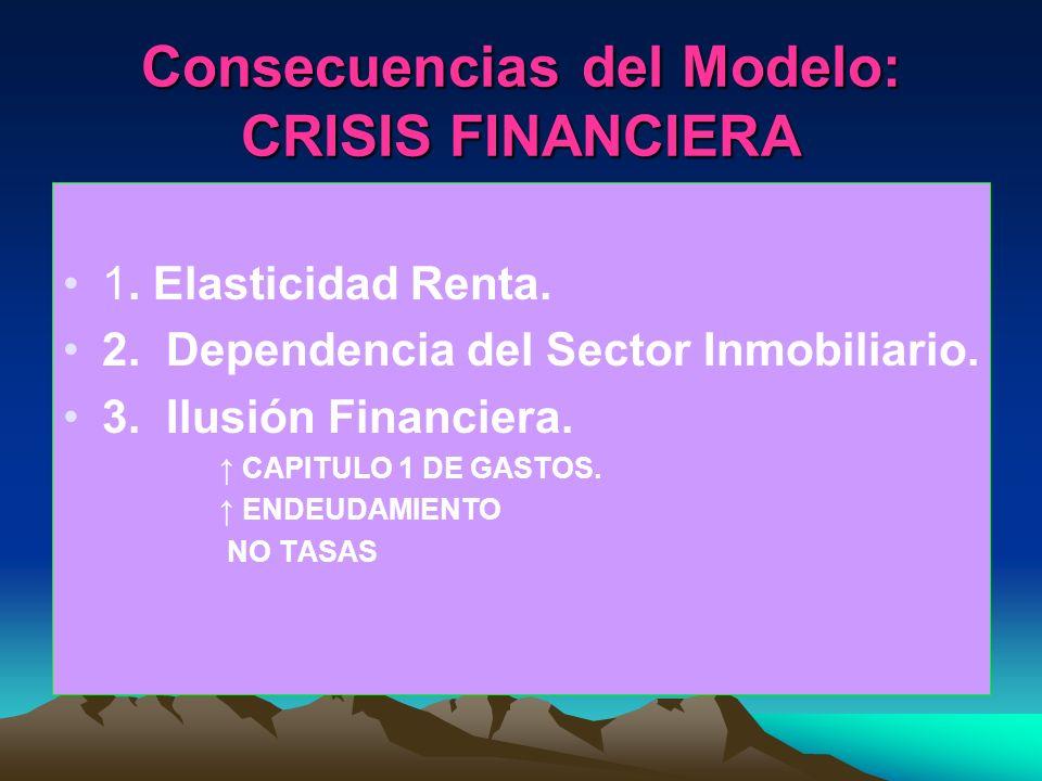 Consecuencias del Modelo: CRISIS FINANCIERA