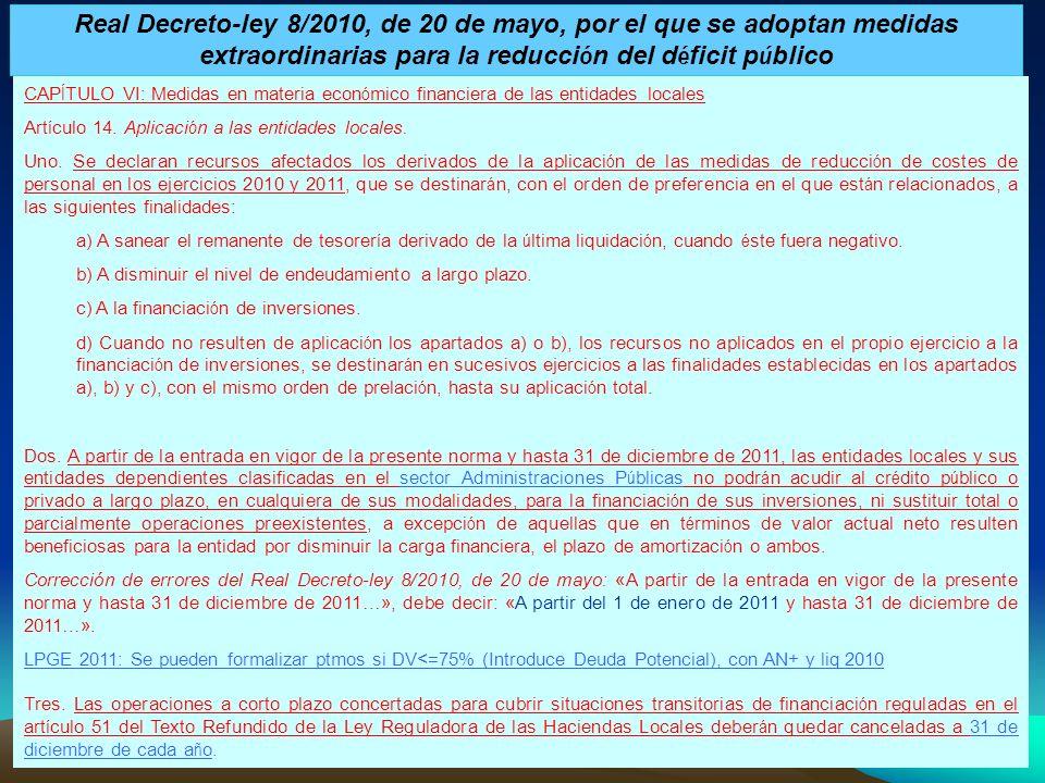 Real Decreto-ley 8/2010, de 20 de mayo, por el que se adoptan medidas extraordinarias para la reducción del déficit público