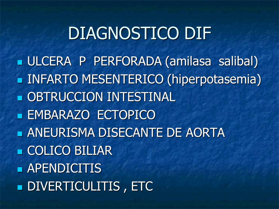 DIAGNOSTICO DIF ULCERA P PERFORADA (amilasa salibal)
