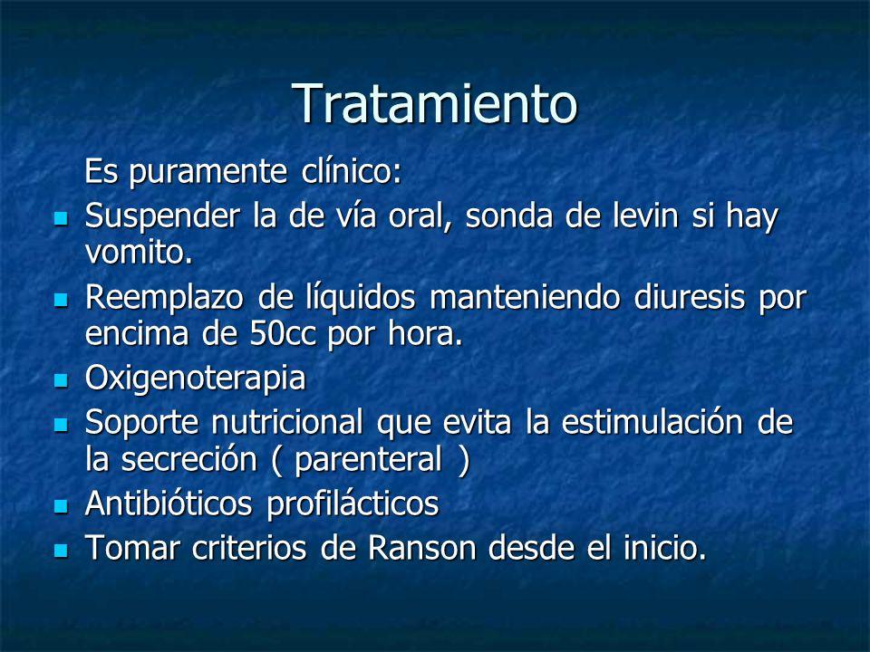 Tratamiento Es puramente clínico: