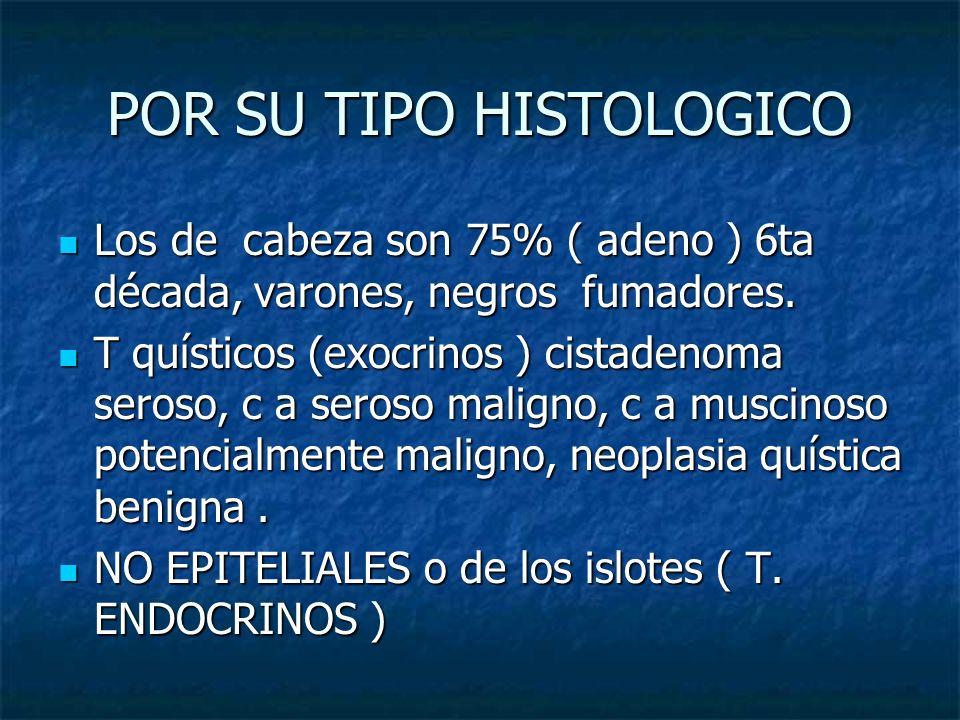 POR SU TIPO HISTOLOGICO