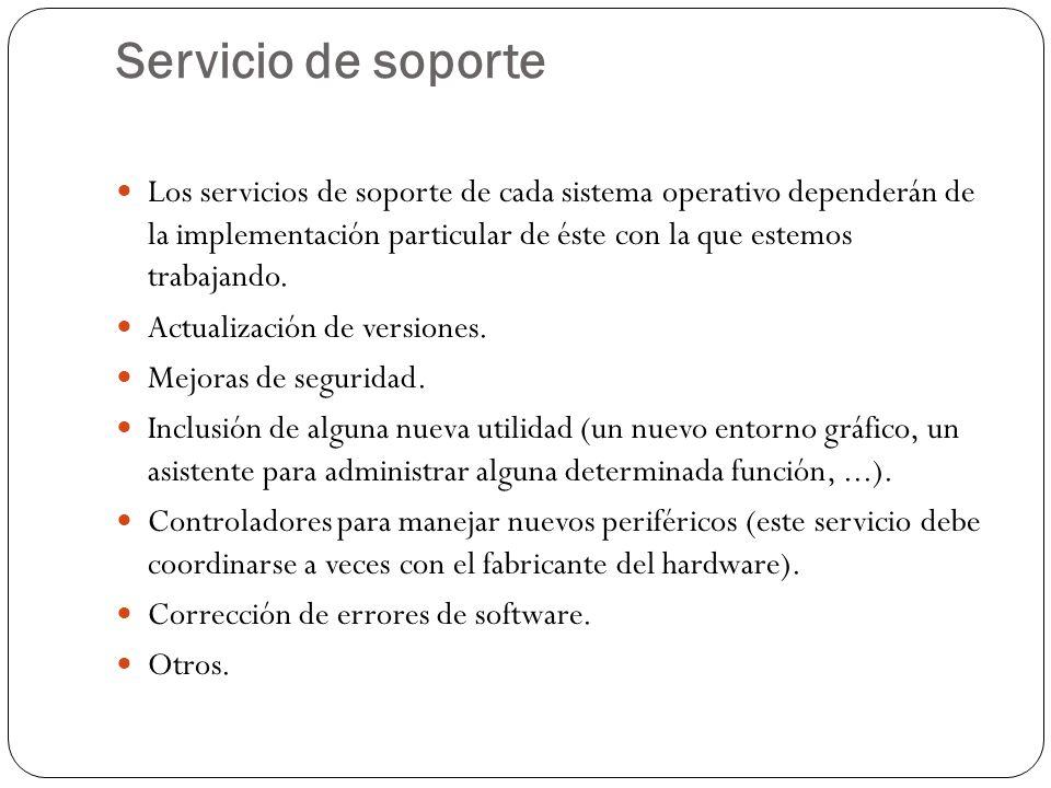 Servicio de soporte