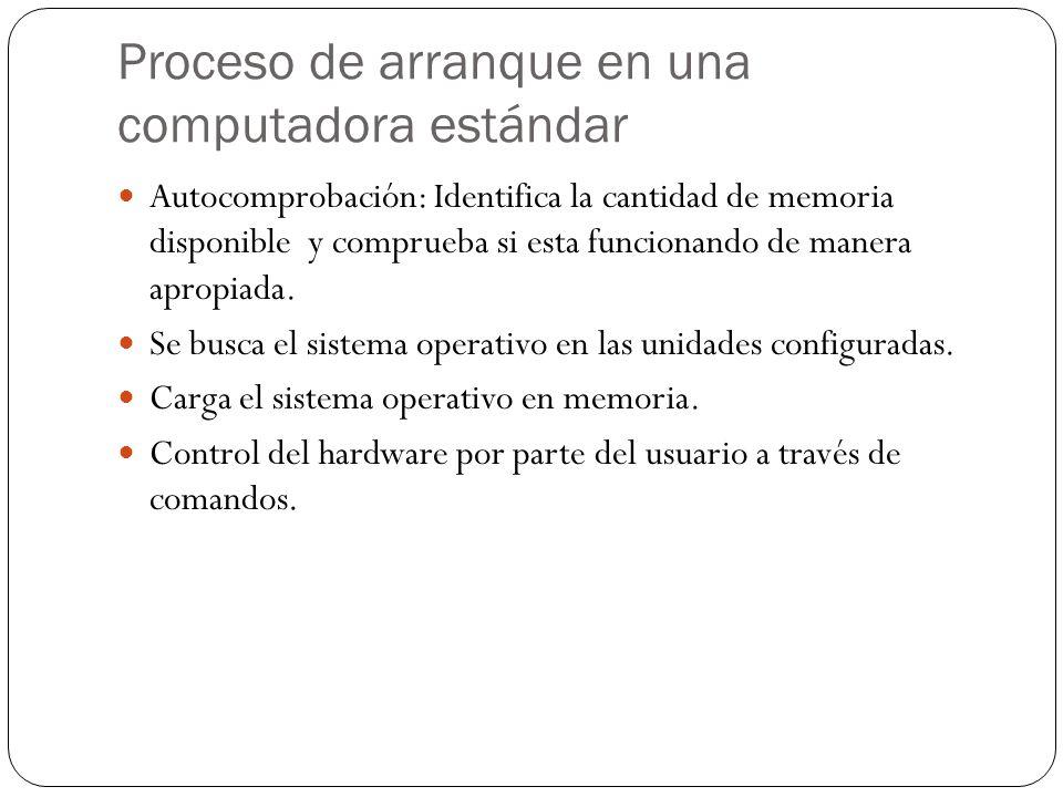 Proceso de arranque en una computadora estándar