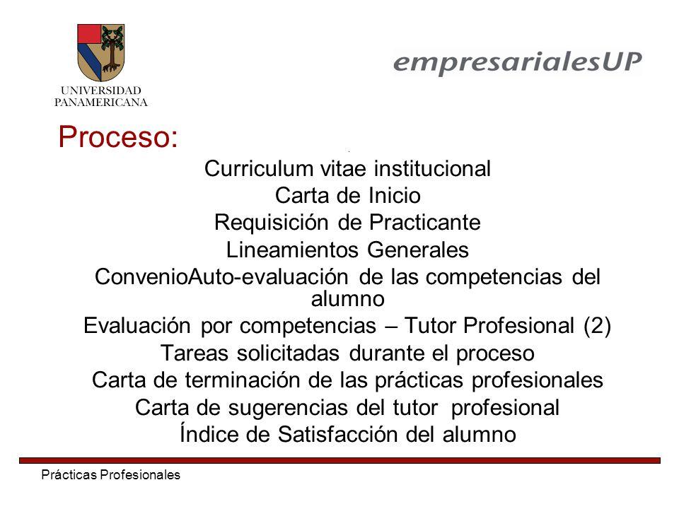 Proceso: Curriculum vitae institucional Carta de Inicio