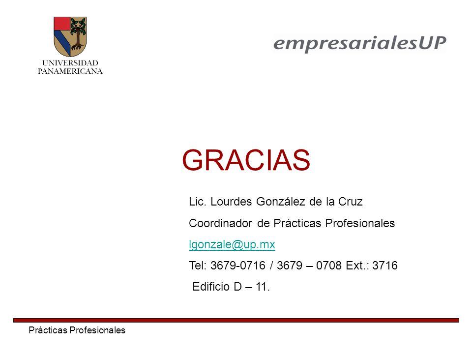 GRACIAS Lic. Lourdes González de la Cruz