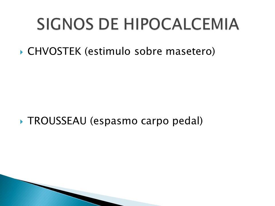 SIGNOS DE HIPOCALCEMIA