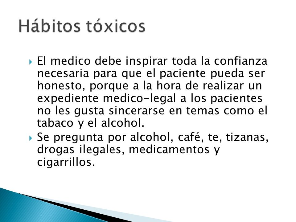 Hábitos tóxicos