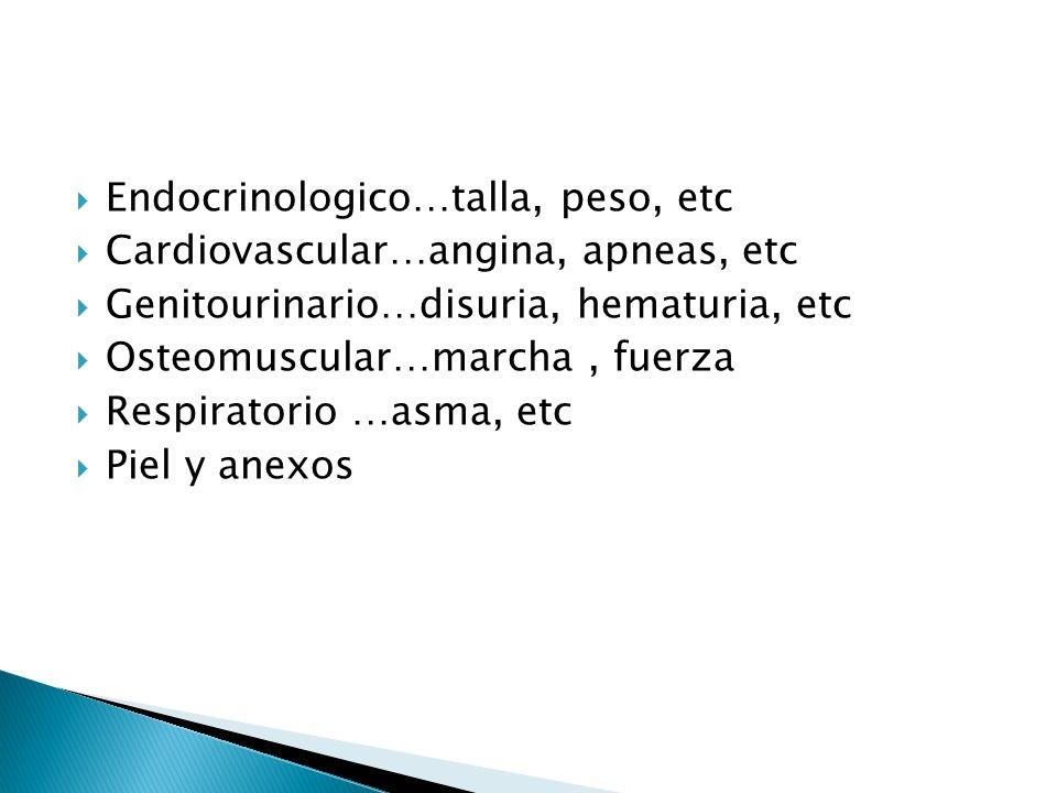 Endocrinologico…talla, peso, etc