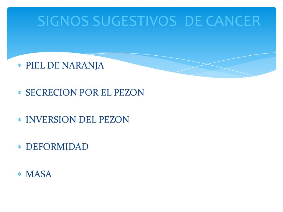 SIGNOS SUGESTIVOS DE CANCER