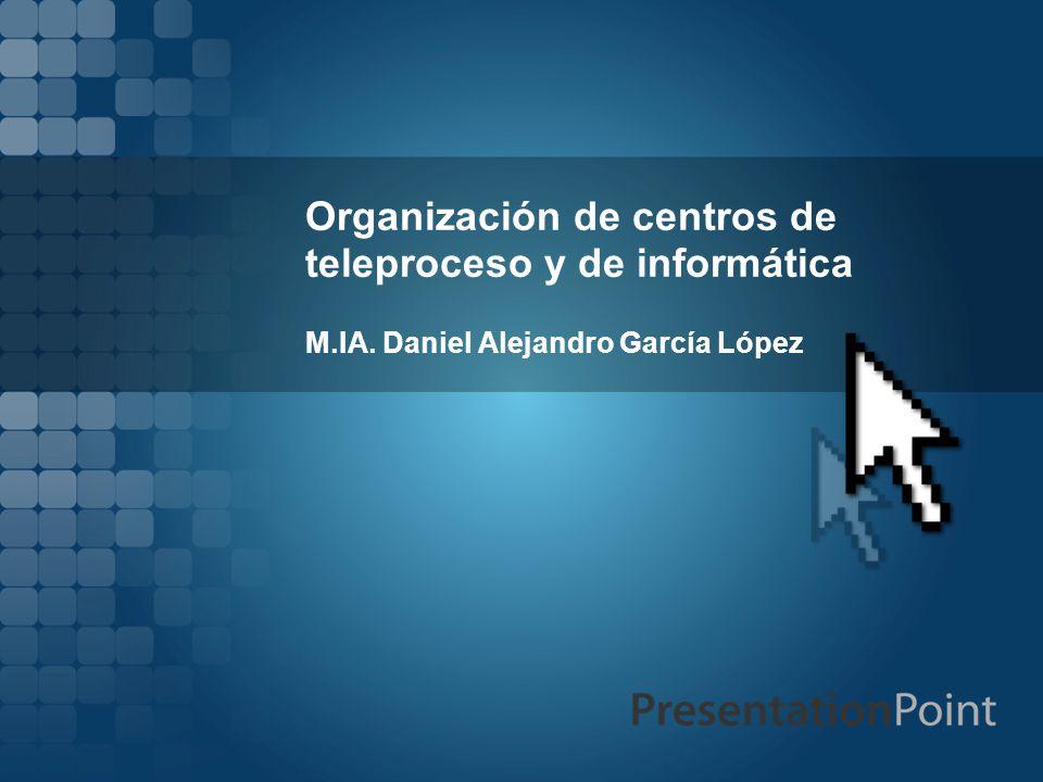 Organización de centros de teleproceso y de informática
