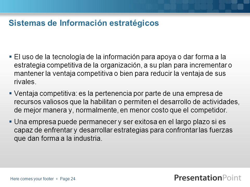Sistemas de Información estratégicos