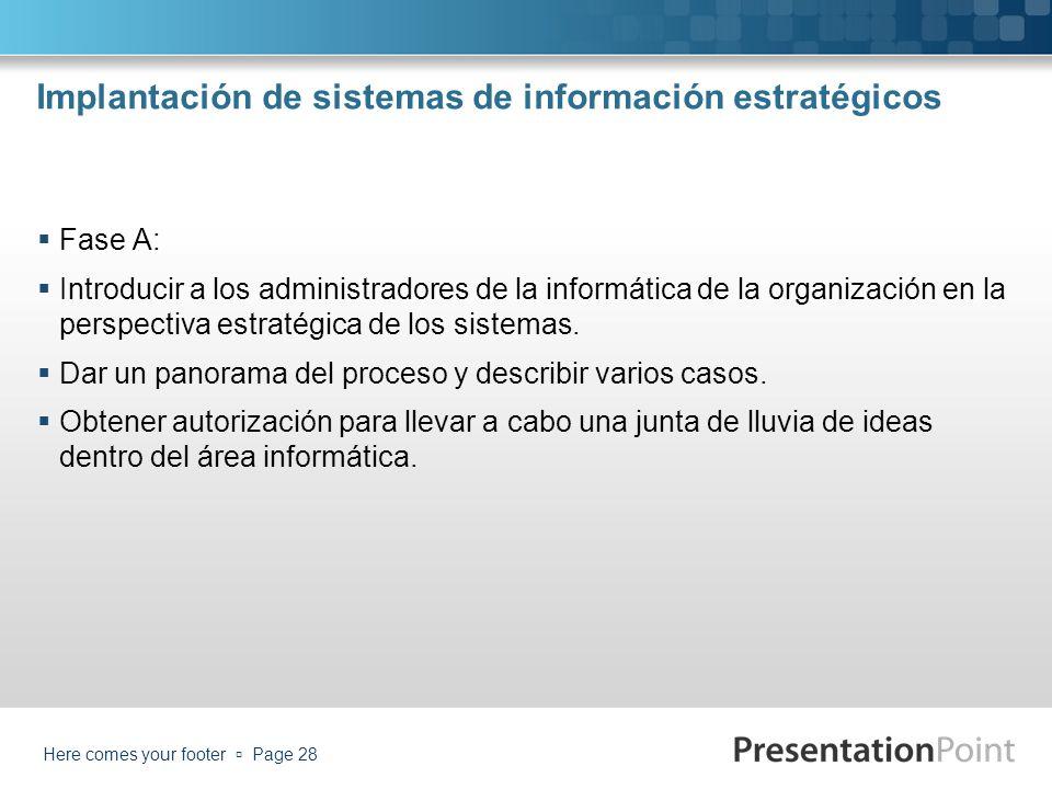 Implantación de sistemas de información estratégicos