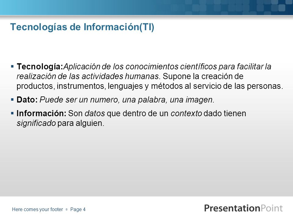 Tecnologías de Información(TI)