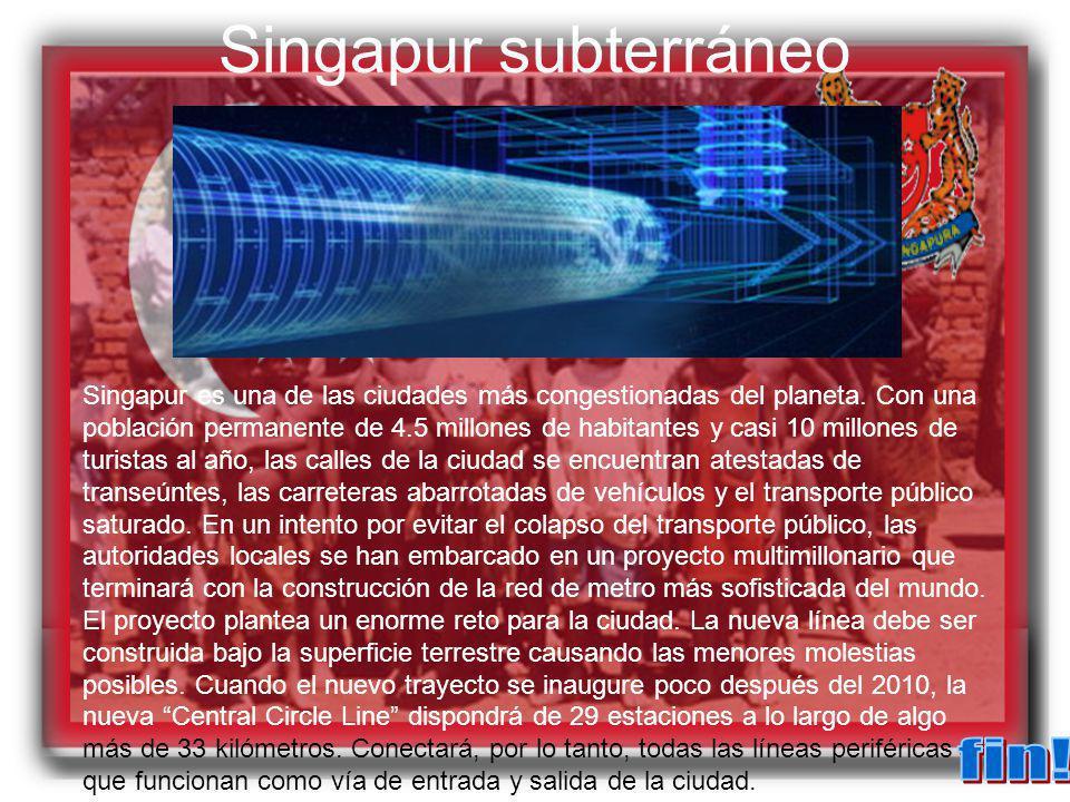 Singapur subterráneo fin!