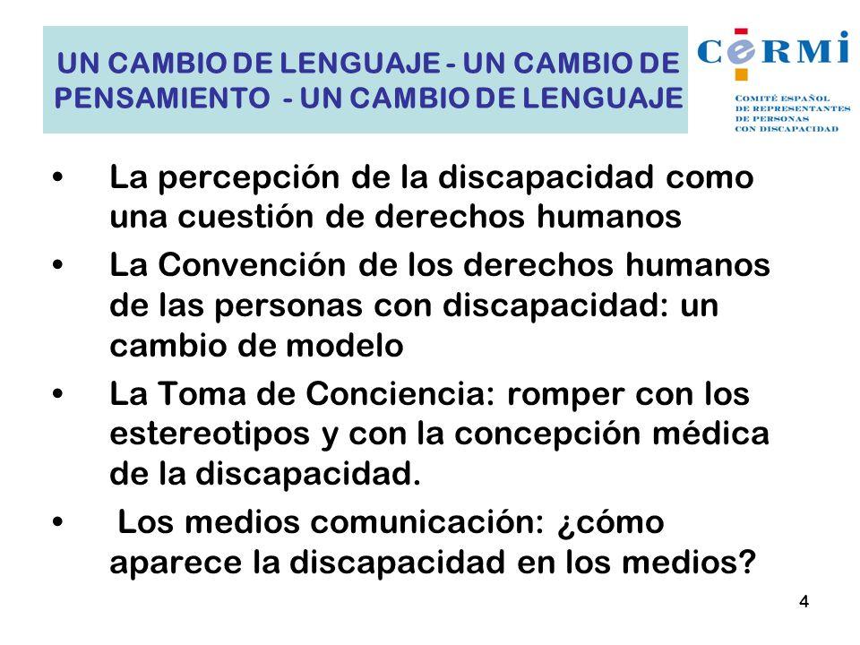 La percepción de la discapacidad como una cuestión de derechos humanos
