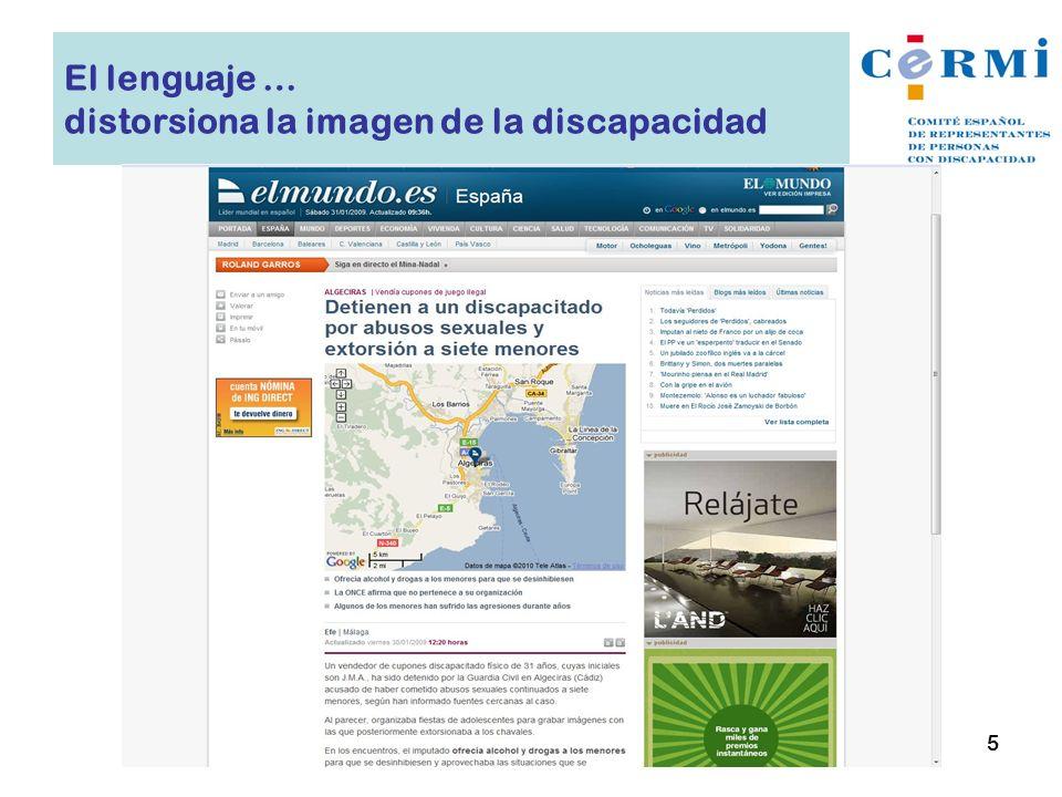 El lenguaje … distorsiona la imagen de la discapacidad