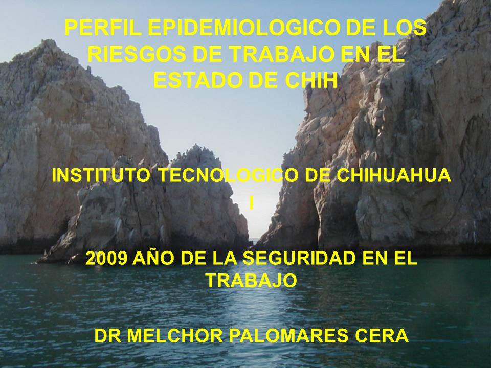 PERFIL EPIDEMIOLOGICO DE LOS RIESGOS DE TRABAJO EN EL ESTADO DE CHIH