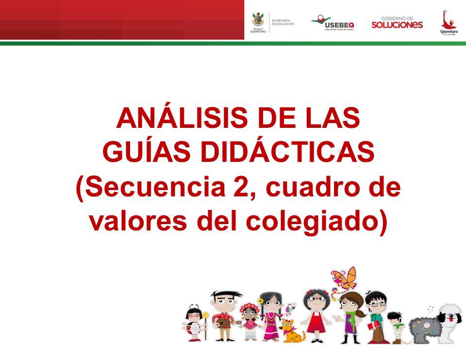 ANÁLISIS DE LAS GUÍAS DIDÁCTICAS