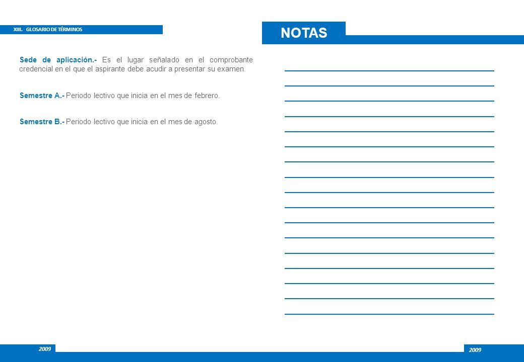 NOTAS XIII. GLOSARIO DE TÉRMINOS.