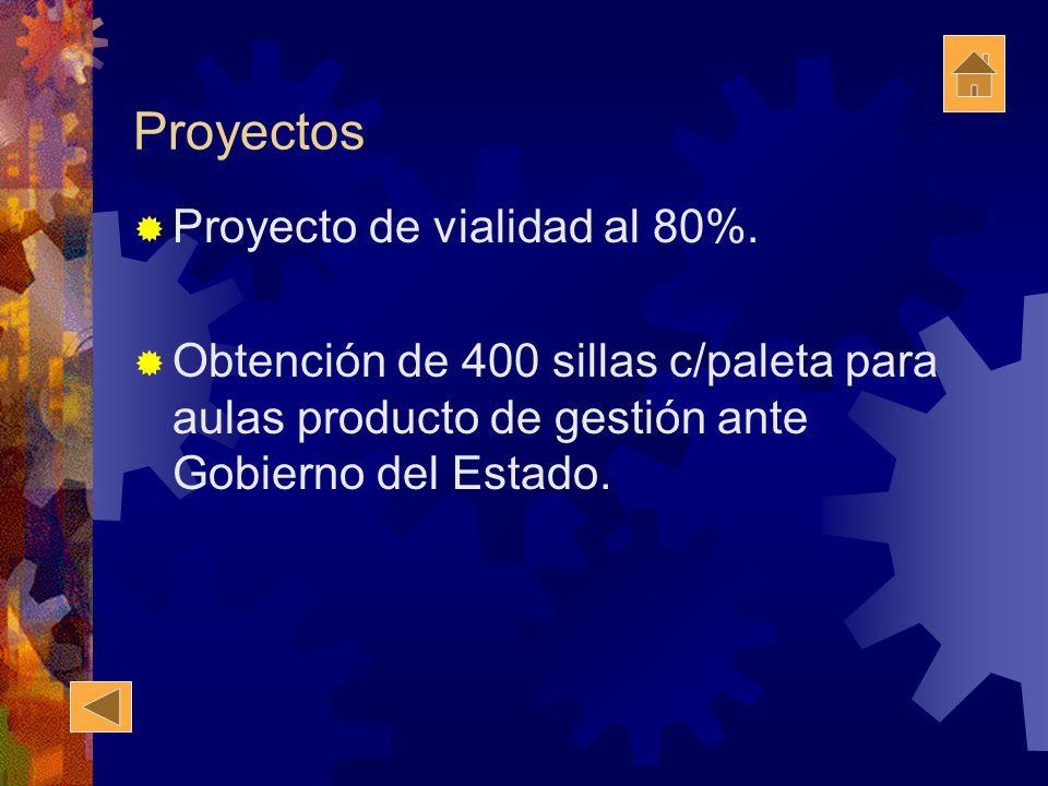 Proyectos Proyecto de vialidad al 80%.