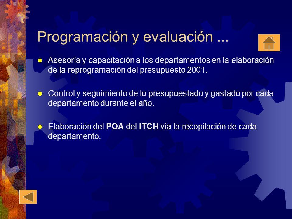 Programación y evaluación ...