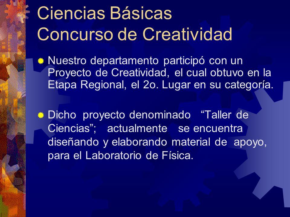 Ciencias Básicas Concurso de Creatividad