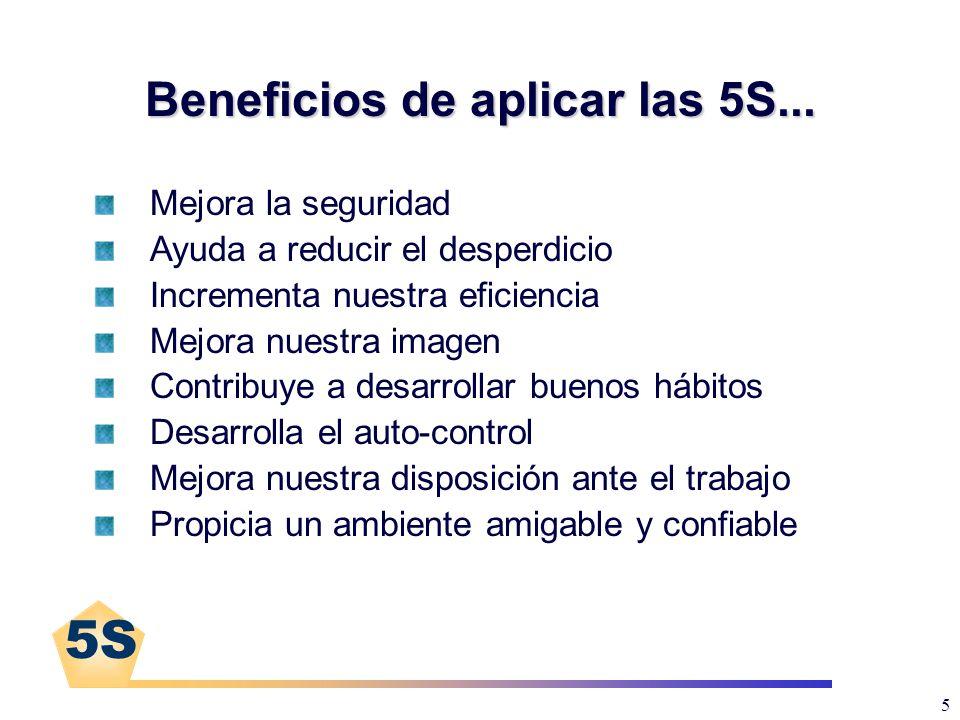 Beneficios de aplicar las 5S...