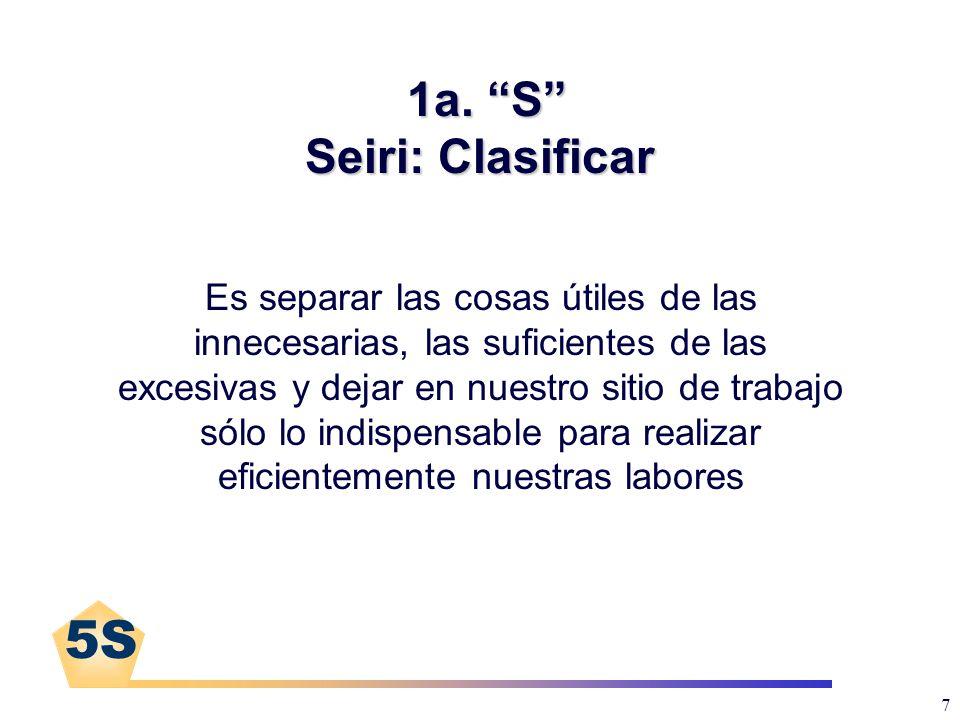 1a. S Seiri: Clasificar