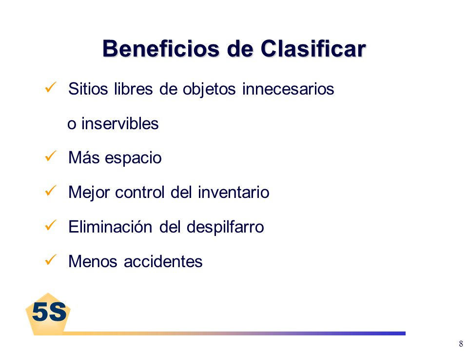 Beneficios de Clasificar