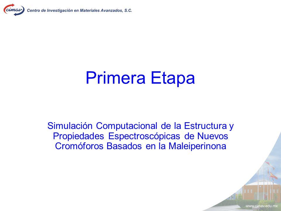 Primera Etapa Simulación Computacional de la Estructura y Propiedades Espectroscópicas de Nuevos Cromóforos Basados en la Maleiperinona.