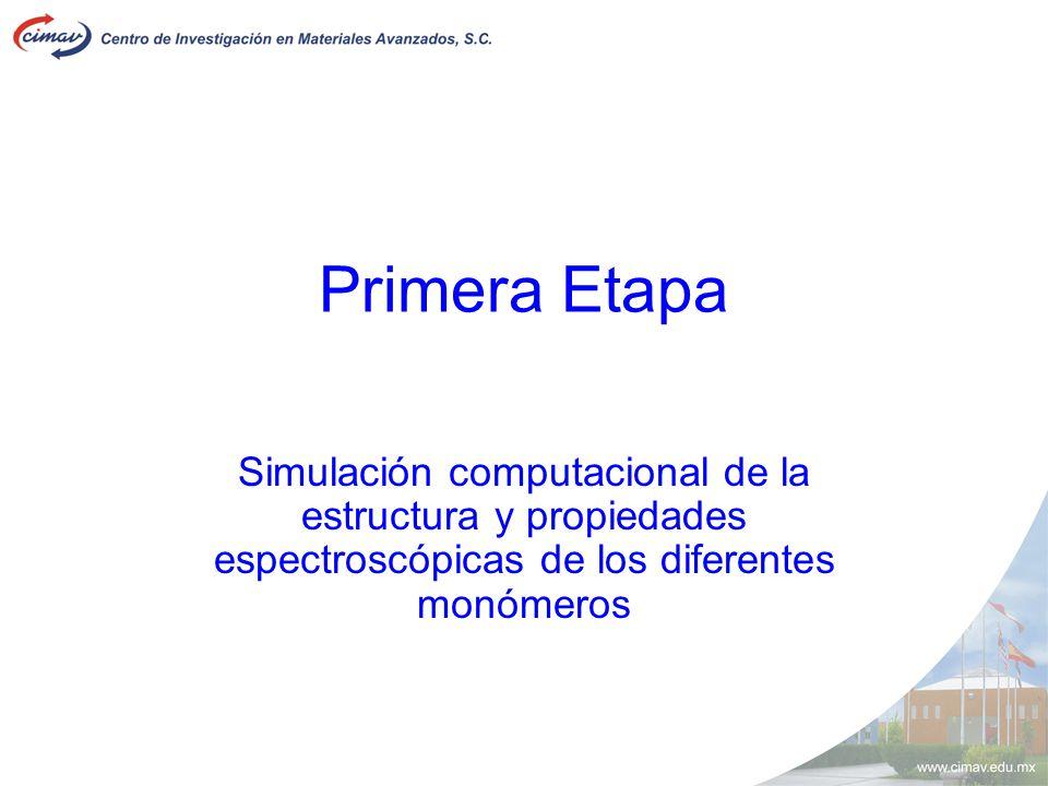 Primera Etapa Simulación computacional de la estructura y propiedades espectroscópicas de los diferentes monómeros.