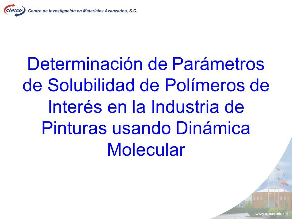 Determinación de Parámetros de Solubilidad de Polímeros de Interés en la Industria de Pinturas usando Dinámica Molecular