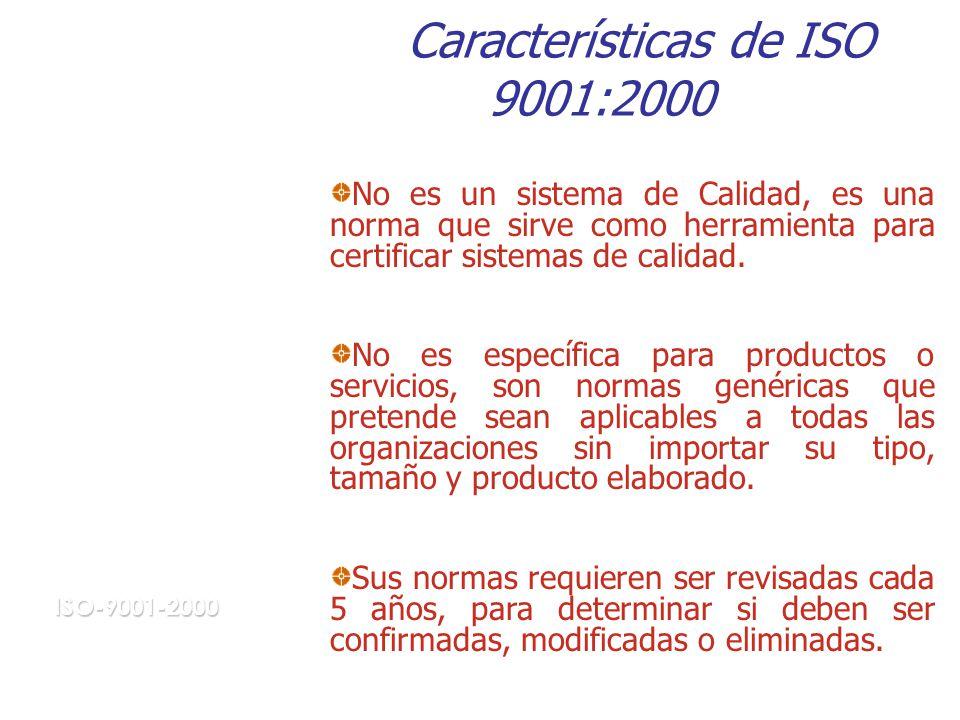 Características de ISO 9001:2000