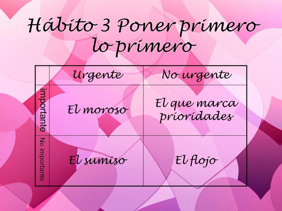 Hábito 3 Poner primero lo primero
