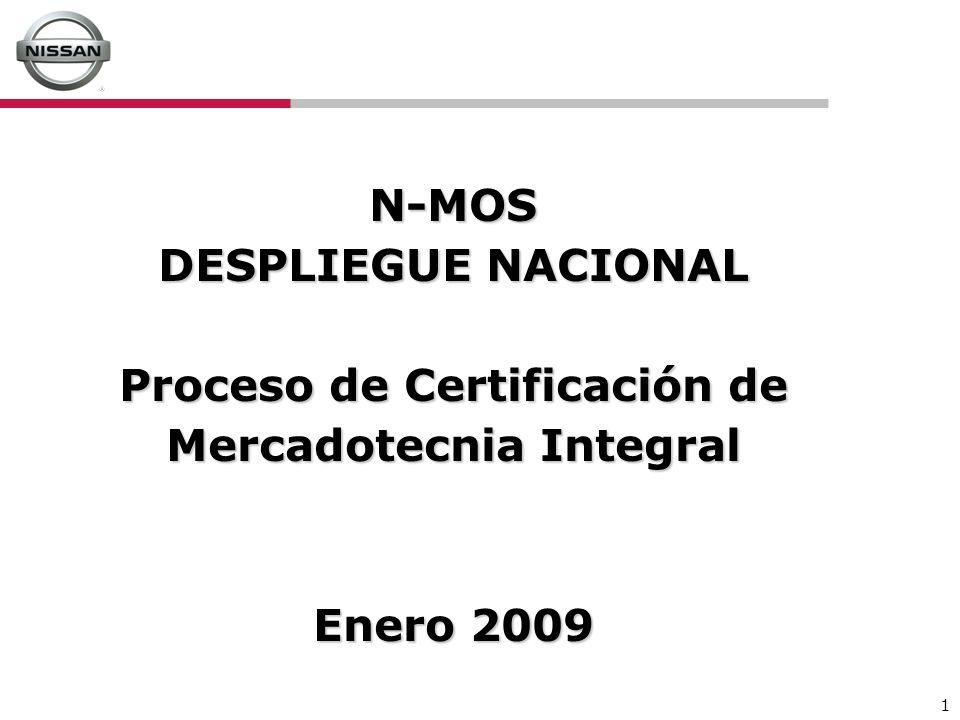 N-MOS DESPLIEGUE NACIONAL Proceso de Certificación de Mercadotecnia Integral Enero 2009