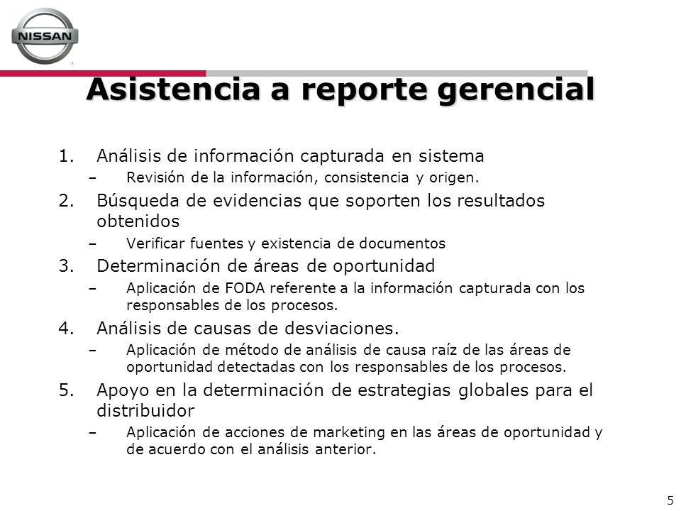 Asistencia a reporte gerencial