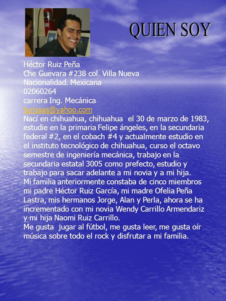 QUIEN SOY Héctor Ruiz Peña Che Guevara #238 col. Villa Nueva