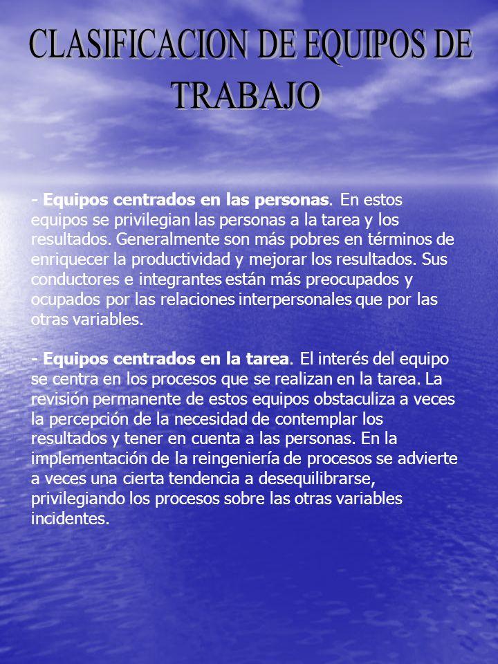 CLASIFICACION DE EQUIPOS DE