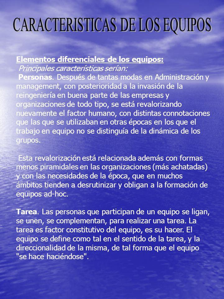 CARACTERISTICAS DE LOS EQUIPOS